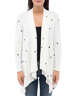 B Collection by Bobeau Amie Cozy Printed Open Waterfall Cardigan