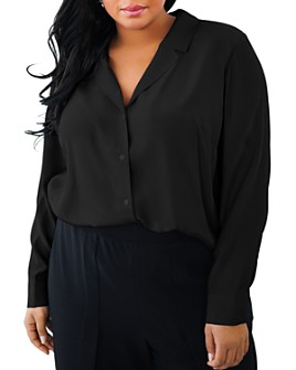 Maree Pour Toi Plus - Silk Collared Blouse