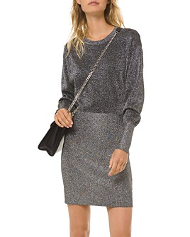 MICHAEL Michael Kors - Metallic Long-Sleeve Mini Dress