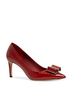 Salvatore Ferragamo - Women's Patent Leather Double-Bow Pumps