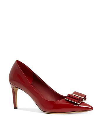 Salvatore Ferragamo - Women's Patent Leather Double-Bow Pumps