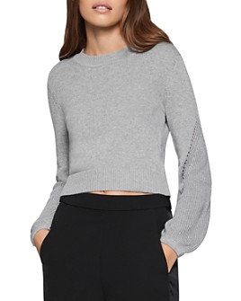 BCBGENERATION - Balloon-Sleeve Cropped Sweater