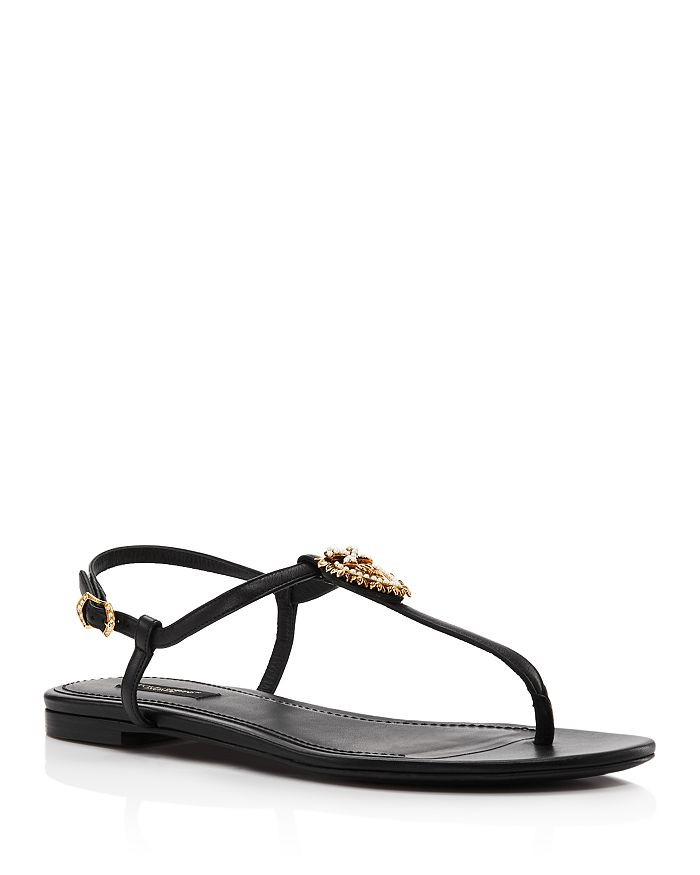 Dolce & Gabbana - Women's Embellished Thong Sandals