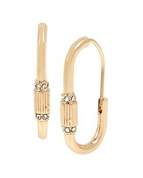 ALLSAINTS - Pavé Carabiner Small Hoop Earrings