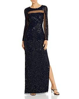 Aidan Mattox - Embellished Open-Back Gown