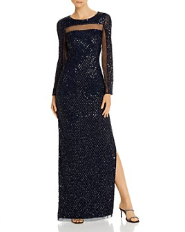 Aidan Mattox - Embellished Open-Back Gown