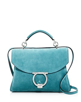 Salvatore Ferragamo - Margot Small Suede Satchel