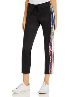 PAM & GELA -  Sequin-Stripe Track Pants