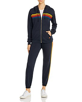 Aviator Nation - Rainbow-Stripe Hoodie & Sweatpants