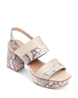 Bernardo - Women's Racquel Snake-Print Platform Sandals