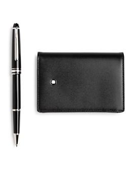 Montblanc - Meisterstück Classique Rollerball Pen & Business Card Case Gift Set