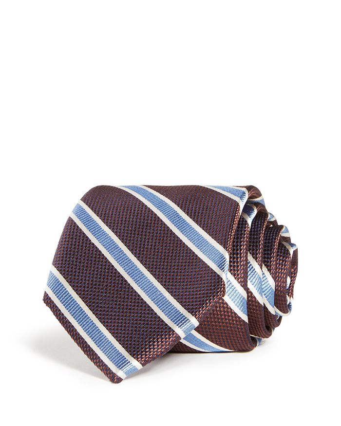 The Men's Store at Bloomingdale's - Stripe Woven Silk Classic tie - 100% Exclusive