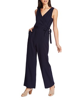 1.STATE - Soft Twill Faux-Wrap Jumpsuit