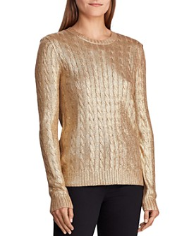 Ralph Lauren - Metallic Cable Knit Sweater