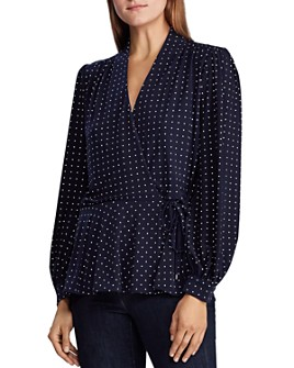 Ralph Lauren - Polka Dot Wrap Top