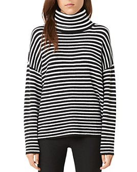 FRENCH CONNECTION - Micro Stripe Turtleneck Sweater