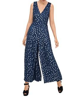 kate spade new york - Scatter Dot Burnout Velvet Jumpsuit