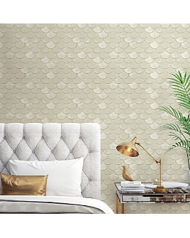 Tempaper - Genevieve Gorder Brass Belly Self-Adhesive, Removable Wallpaper, Double Roll