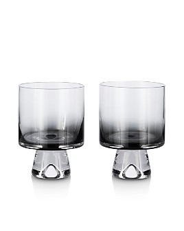 Tom Dixon - Black Tank Low Ball Glass, Set of 2