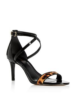 MICHAEL Michael Kors - Women's Ava Strappy Leopard-Print High-Heel Sandals