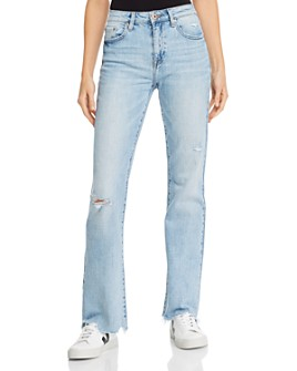Pistola - Drew Vintage Distressed Flared Jeans in Surreal