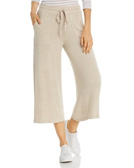 Three Dots - Wide-Leg Drawstring Sweatpants