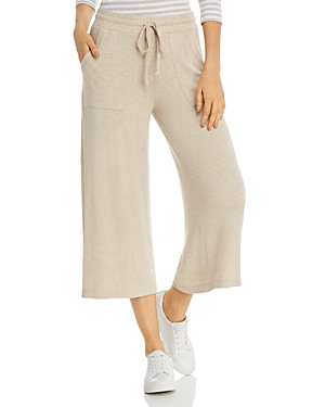 Three Dots Wide-Leg Drawstring Sweatpants