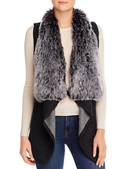 Sioni - Shawl Vest with Faux-Fur Collar
