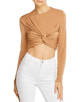 Significant Other - Sabine Twist-Front Crop Top