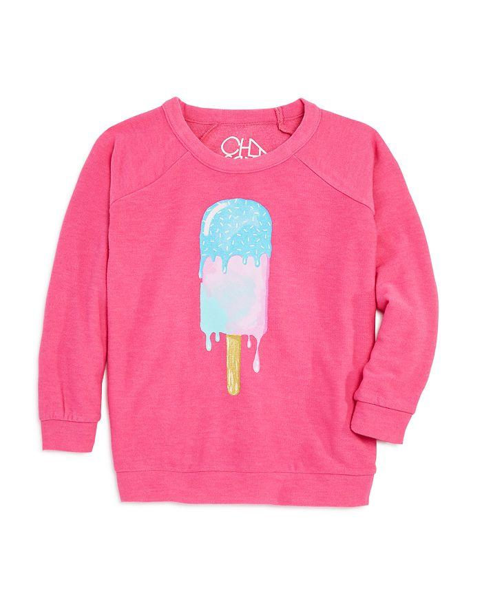 CHASER - Girls' Drippy Ice Cream Sweatshirt - Little Kid, Big Kid