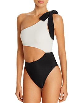 SAME Los Angeles - Skin By Same Color-Block Cutout One Piece Swimsuit