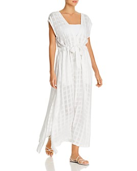 Ralph Lauren - Plaid Midi Dress Swim Cover-Up