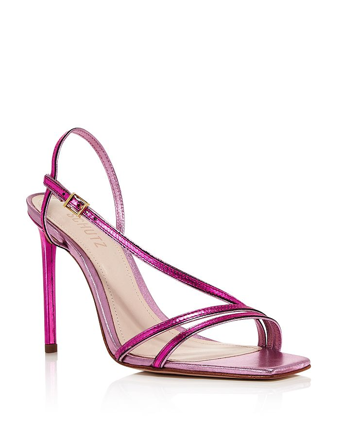 SCHUTZ - Women's Luna High-Heel Metallic Strappy Sandals