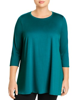 Eileen Fisher Plus - Crewneck Tunic Top