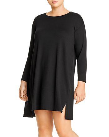 Eileen Fisher Plus - Knit High/Low Shift Dress