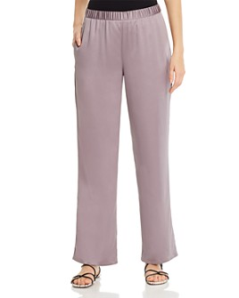 Eileen Fisher Petites - Satin Straight-Leg Pants
