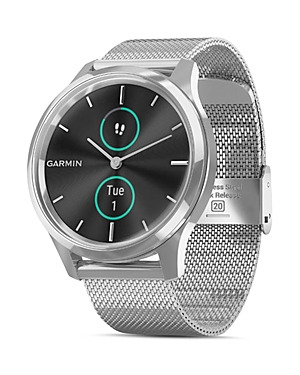 Garmin Vivomove Luxe Milanese Mesh Bracelet Touchscreen Hybrid Smartwatch, 42mm-Jewelry & Accessories