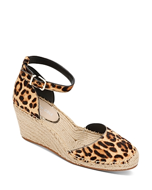 Women's Olivia Leopard Print Wedge Heel Espadrilles
