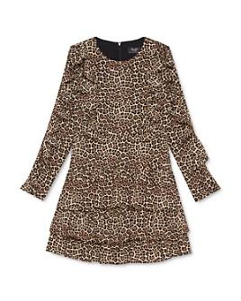 Bardot Junior - Girls' Rara Ruffled Leopard Print Dress - Big Kid