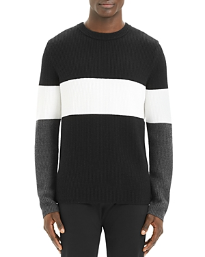 Theory Zoren Striped Cashwool Sweater