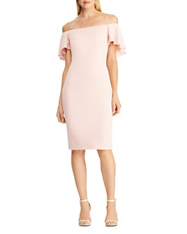 Ralph Lauren - Ruffled-Cape Off-the-Shoulder Dress