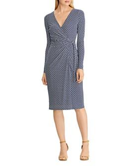 Ralph Lauren - Printed Faux-Wrap Dress