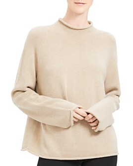 Theory - Rolled-Edge Cashmere Sweater