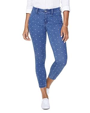 Nydj Ami Skinny Ankle Jeans in Beachside Polka Dot