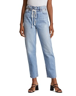 Hudson - Elly Extreme High-Waist Cropped Straight Jeans in Skylines