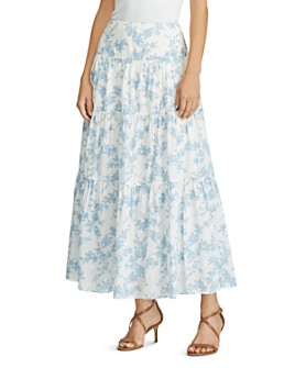 Ralph Lauren - Tiered Floral-Print Maxi Skirt