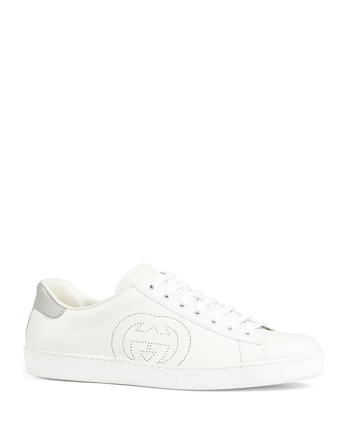 Gucci - Men's New Ace Interlocking G Low-Top Sneakers