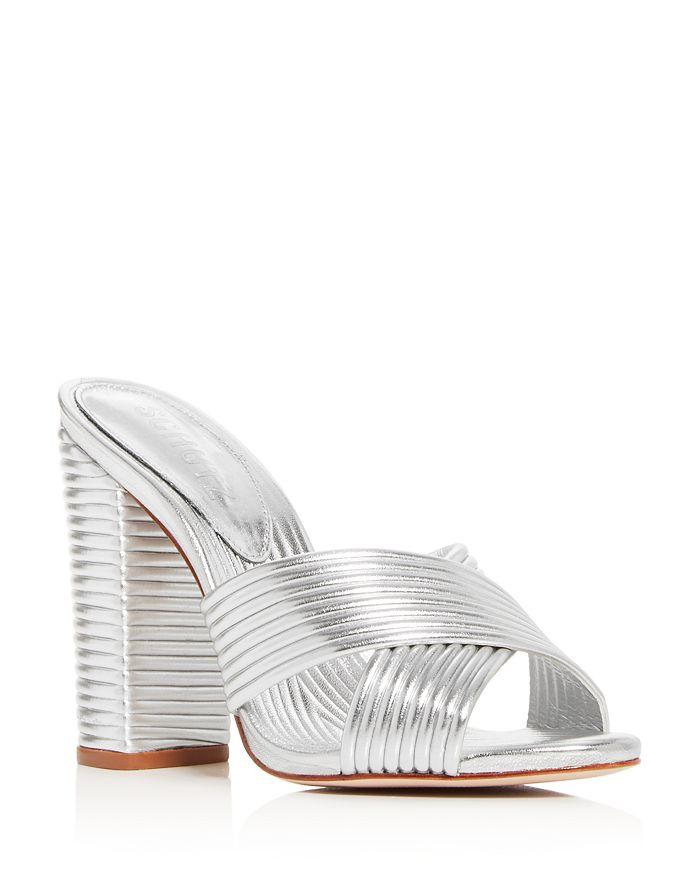 SCHUTZ - Women's Emma Dale Criss-Cross Quilted Slide Sandals