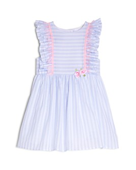 Pippa & Julie - Girls' Striped & Ruffled Dress - Baby