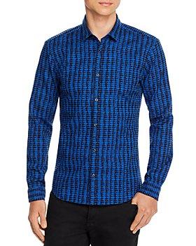 HUGO - ERO3 Abstract-Check Slim Fit Shirt